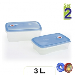 Set de 2 fiambreras rectangulares