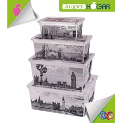 "Set de 6 Cajas Ordenación - Multiusos ""London"""